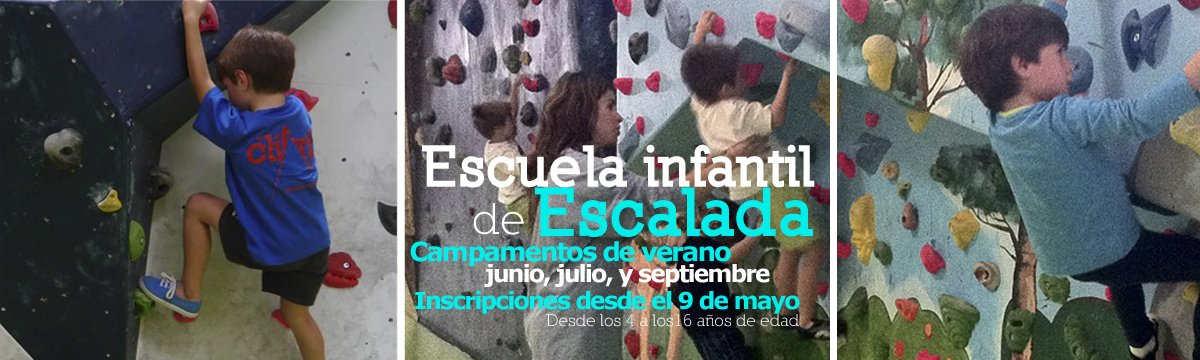 Escuela de escalada para niños