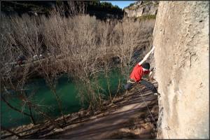 Uso y formas de pisar en la escalada. 44