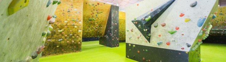 Instalaciones rocodromo escalada The Climb. Zona de escalada de voulder