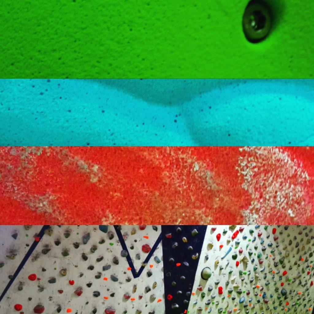 5 Nuevos bloques verde fosforito, Nuevo circuito Rojo 18 bloques, Nuevo circuito azul 9 bloques