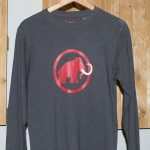 Camiseta Mammut Logo Manga larga
