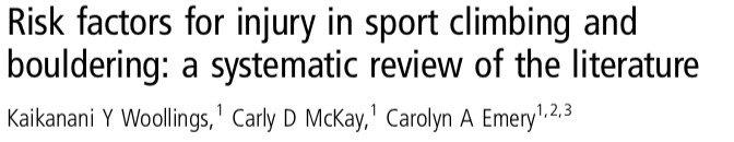 Factores de riesgo de lesión en escalada deportiva y bloque. 8