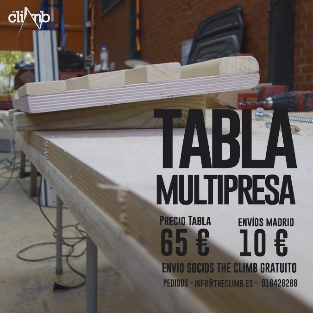 Tabla Multipresa Escalada TheClimb 19