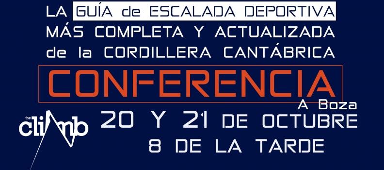 Conferencia Guía Escalada Deportiva Cordillera Cantábrica en The Climb