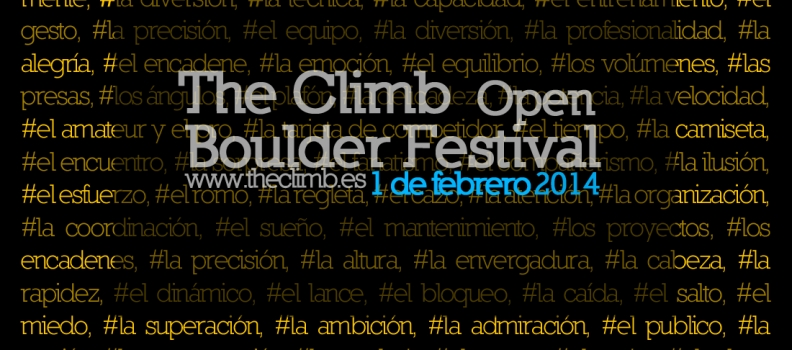 THE CLIMB OPEN BOULDER FESTIVAL 2014